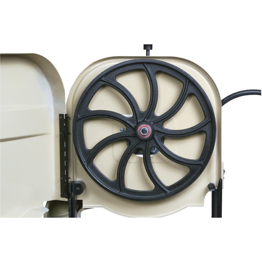 Volant en fonte grise de 375 mm, Garniture en caoutchouc avec un profil permettant à l'avoyage de ne pas la déteriorer
