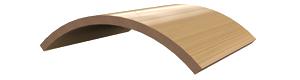 Pliage du bois. Collage de pièces courbes 2D. Utilisation d'une méthode multicouche.