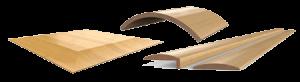 Travail du bois. Placage et laminage de surfaces planes et courbes. Revêtement de profils simples en placage, cuir, papier et plastique. Collage de pièces courbes 2D.